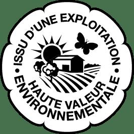 Logo de certification HVE, issu d'une exploitation de Haute Valeur Environnementale