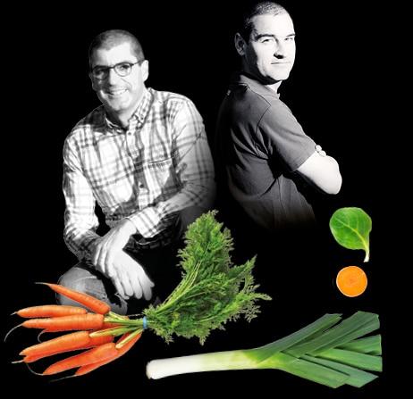 Portrait de Louis et son frère, Bertrand, producteurs de carotte botte, poireaux primeur et mâche du Potager de Jade