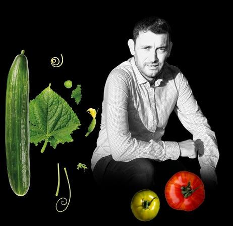 Portrait de Yannick, producteur de tomates et concombres